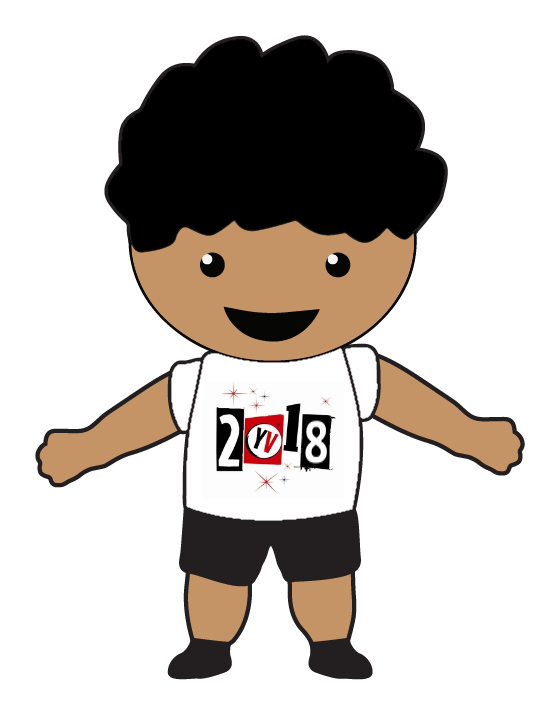 Child in a Young Voices T-shirt